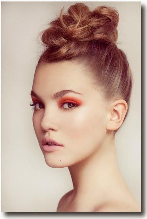 tonos anaranjados maquillaje