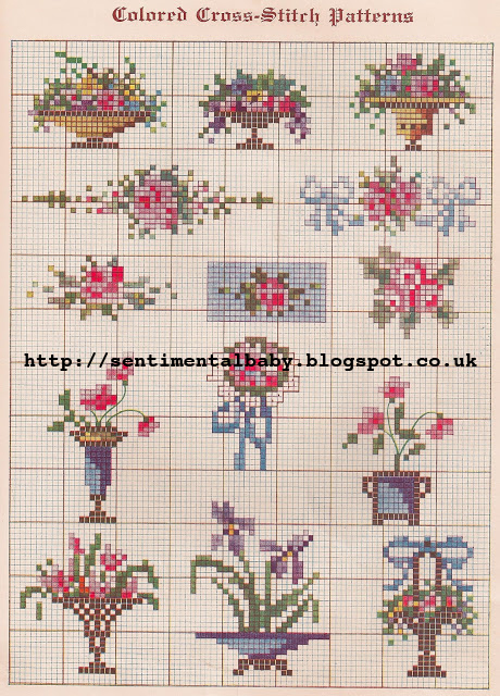 Free 1920's Embroidery Patterns - Cross Stitch Samplers
