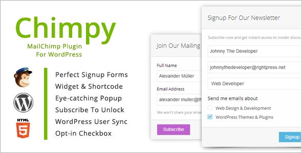Download Free Chimpy v2.1.3 MailChimp WordPress Plugin