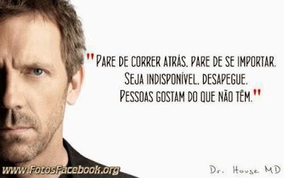 Frases de Dr. House para o Facebook