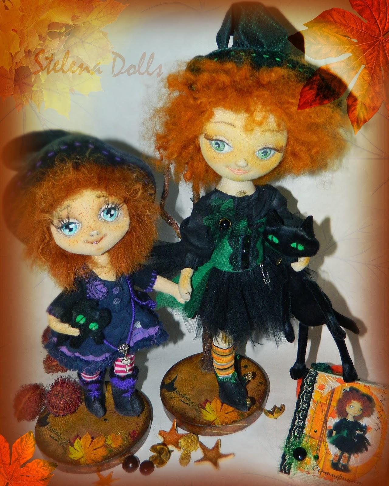 авторская текстильная кукла stelena dolls