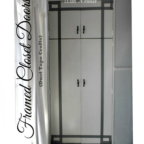 """Framed Closet Doors {Duct Tape Crafts} ~ Quick, easy and inexpensive way to """"frame"""" boring closet doors with #DuctTape #Crafts #DIY #Framing #AlternativeFraming"""
