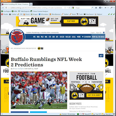 Screen shot of http://www.buffalorumblings.com/2012/9/13/3328962/buffalo-rumblings-nfl-week-2-predictions.