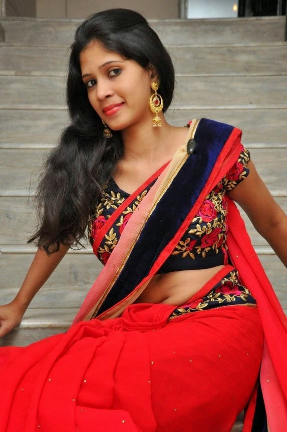 actress om sizzling photos in saree-HQ-Photo-12