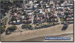 Mar del Tuyú - Aérea de Playa, zona balneario el Viejo y el Mar.