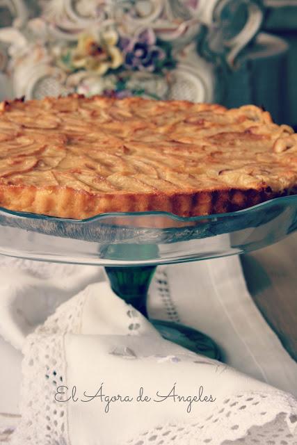 tarta de manzana sin base, tarta de manzana