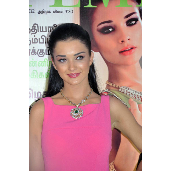 Amy Jackson in pink dress - Amy Jackson Femina magazine launch pics