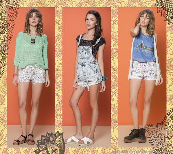 Enteritos y shorts primavera verano 2015, moda 2015 Rimmel.