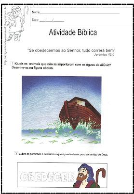 O dilúvio - Atividade bíblica