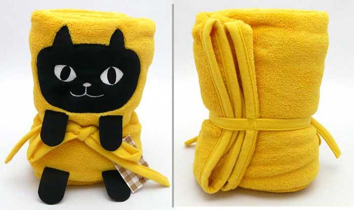 捲捲貓咪毯子 前後照