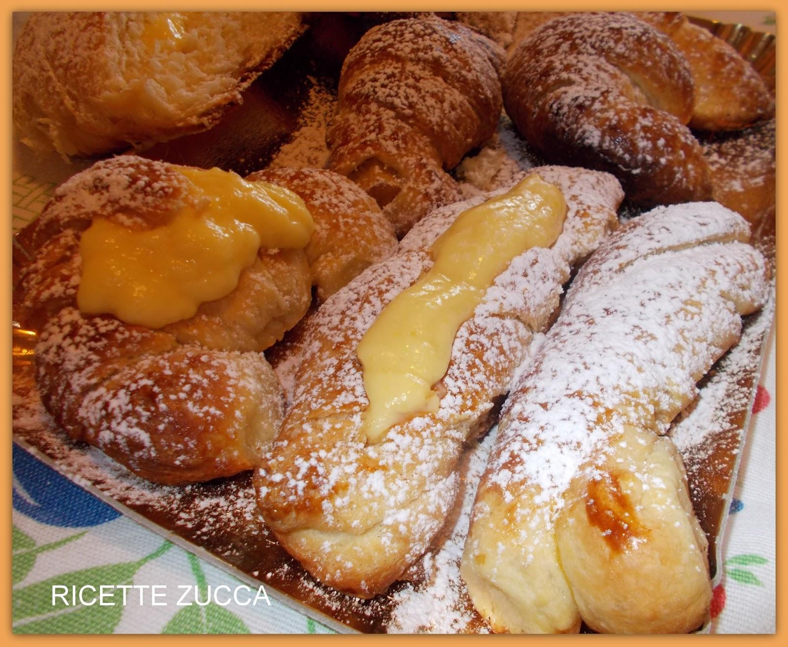 Ricette zucca ricetta brioches croissant for Ricette zucca