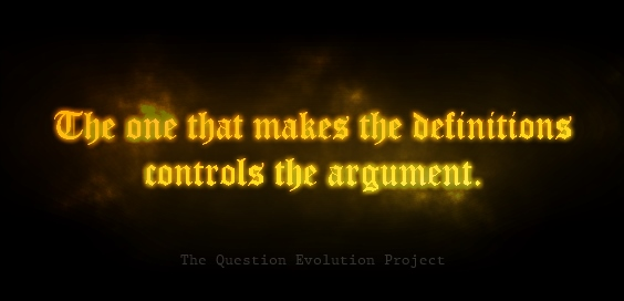 the one that makes the definitions controls the argument