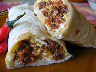Soy Chorizo Breakfast Burritos
