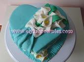 Hantaran fondant cake