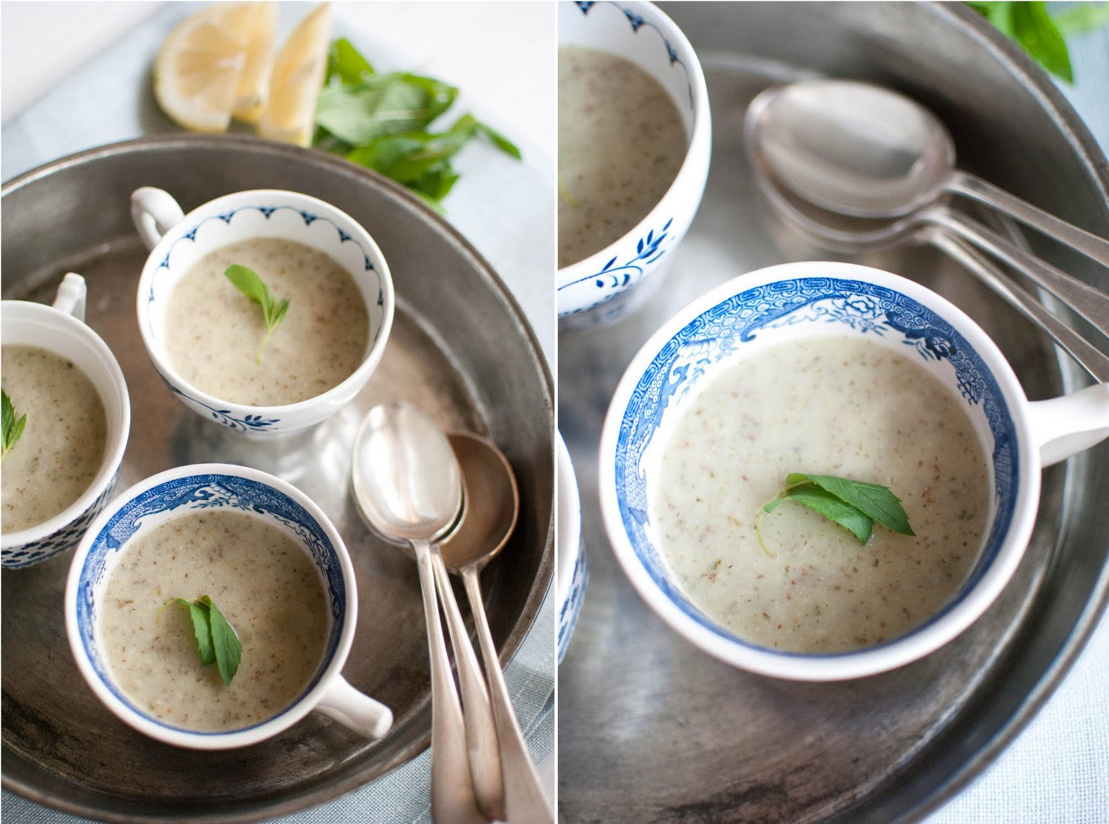 Scandi Home: Long melon and almond soup with lemon and mint