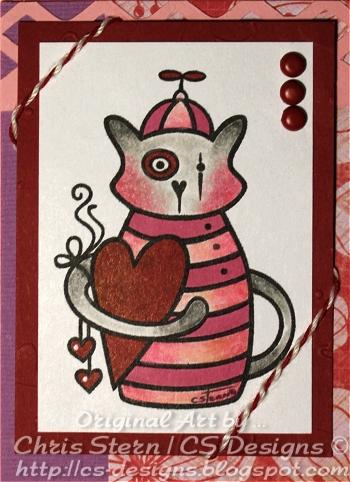 Giz Cat Digital Stamp Art Tag