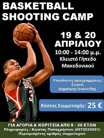 1st Basketball Shooting Camp στον Μακεδονικό