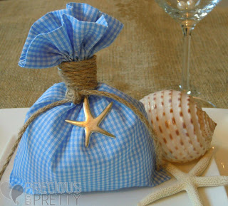 favors with starfish for christenings