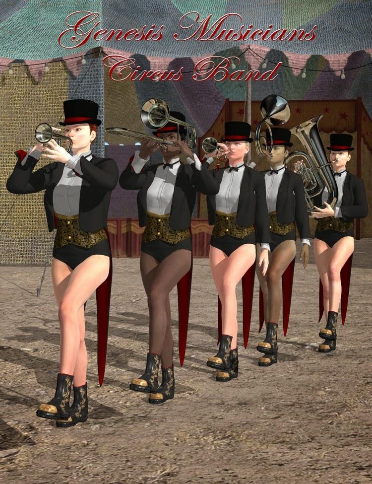 3d Models - Genesis Musicians Brass Players V5