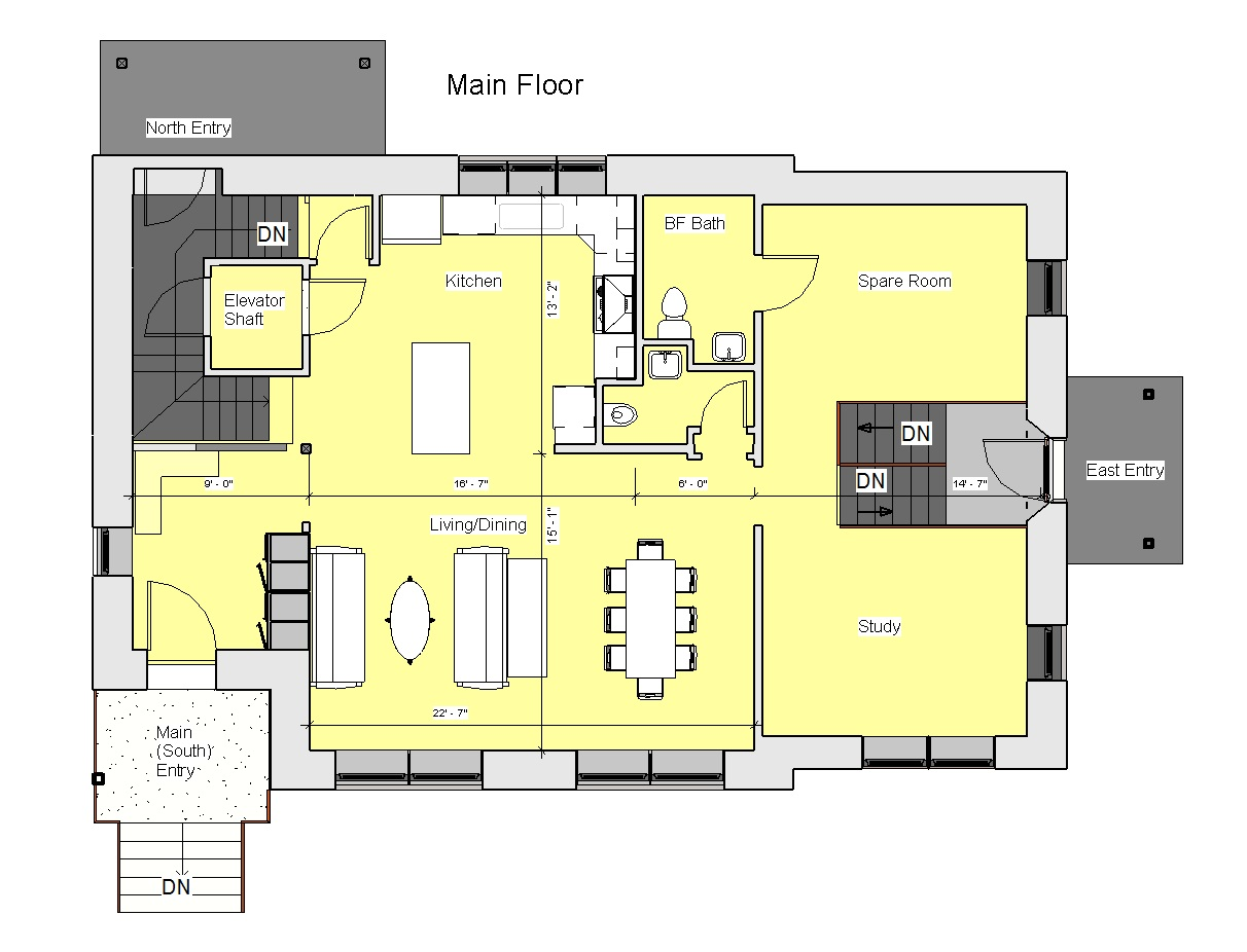 Elevator house floor plans idea home and house Elevator home plans