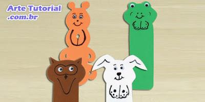 Como fazer marca livro infantil de animais com EVA