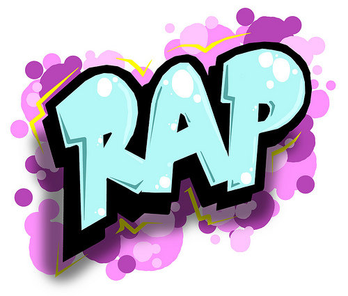 Violet Blue Graffiti Rap HIP HOP Wallpaper