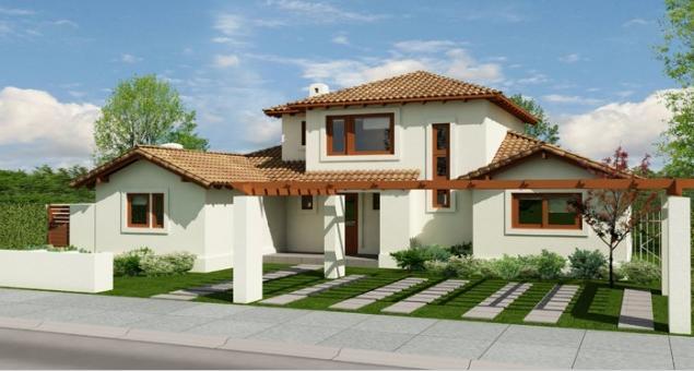 Fachadas de casas fachadas de casas residenciales de dos for Fachadas de casas segundo piso