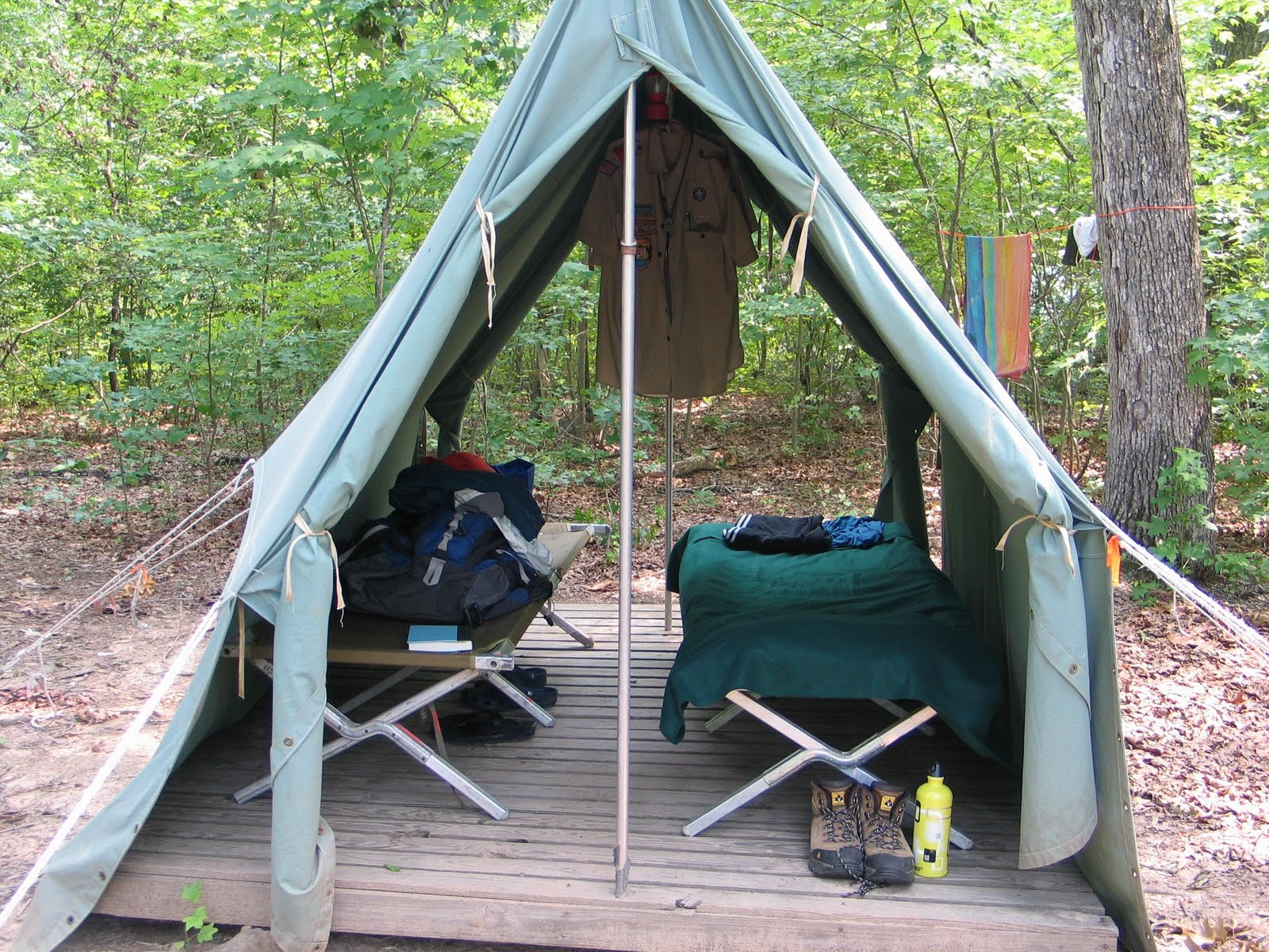 Standard c& canvas tent on wooden platform & Troop 451 at Camp Durant 2011: In the Groove
