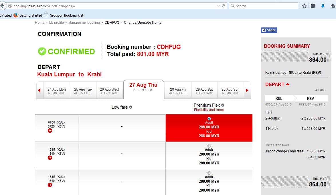 Airasia Premium Flex Flight Using Premium Flex
