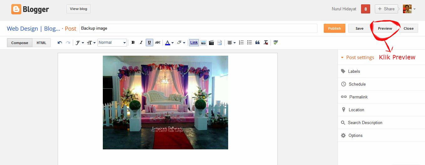 Cara Mudah Mendapatkan URL Image.