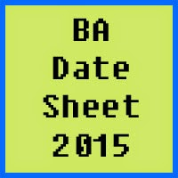 IUB BA Date Sheet 2016