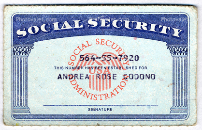 Paradesi newyork for Make a social security card template