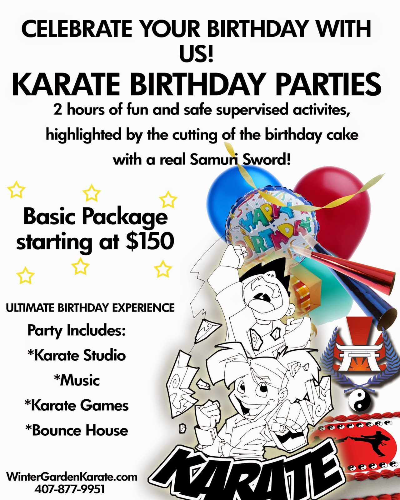 winter garden karate karate birthday