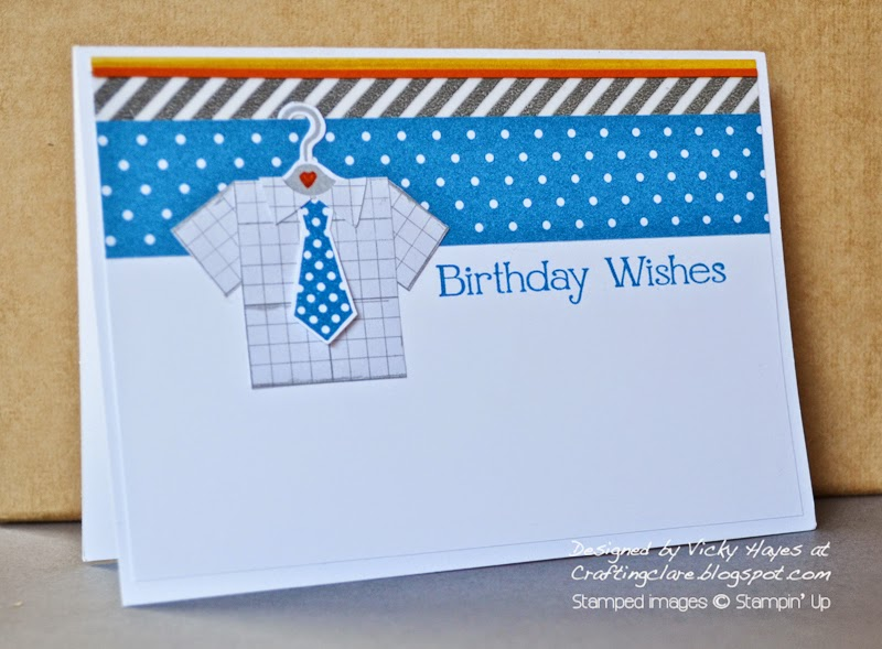 Male card inspiration from UK stampin' Up demonstrator Vicky Hayes