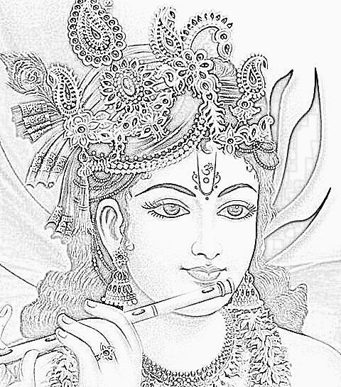 how to draw krishna cartoon