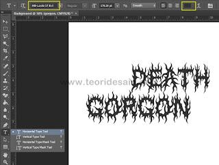 Menggunakan Horizontal Type Tool