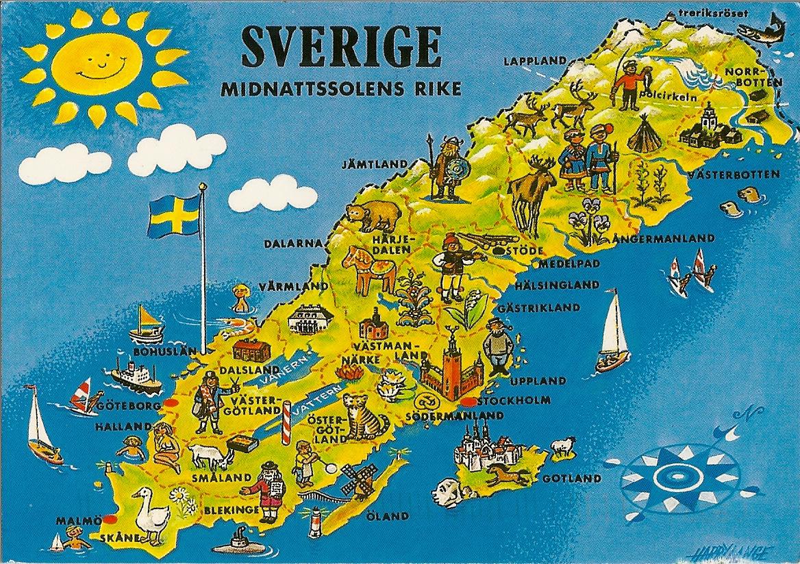 SuSus Postcards Direct Swap Annette From Sweden - Us map sweden