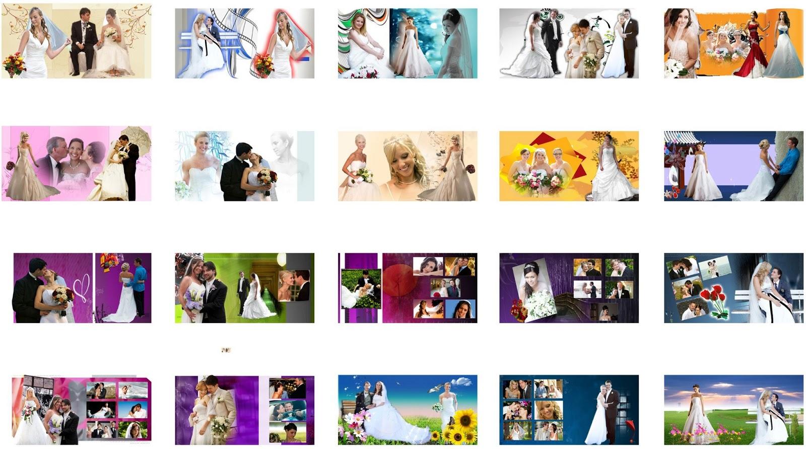 Photoshop Backgrounds: Western Wedding Album Design