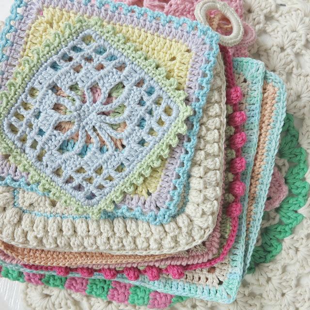 byHaafner, crochet, doilies, doily, mandala, pastel
