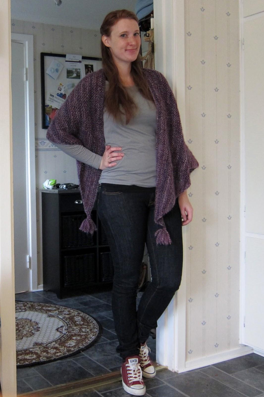Ur min garderob: Stickad sjal