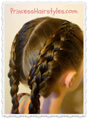 cinch knot feather braid pigtails tutorial princesshairstyles.com
