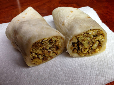 Chorizo and Egg Burritos