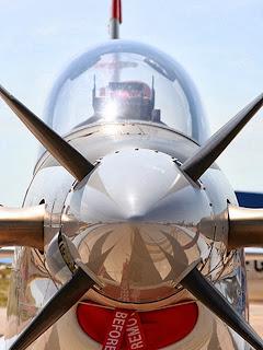 Elicea avionului se-nvârte invizibilă.
