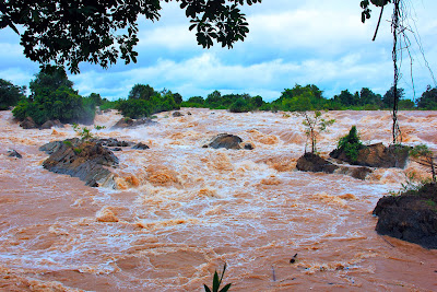 Somphamit falls in Don Khon island (Laos)