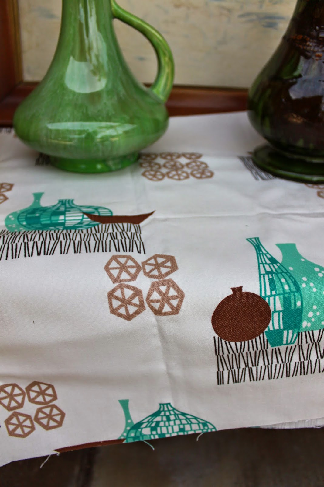 Colonial Drapery and Curtain Corp old fabric sample 1950s