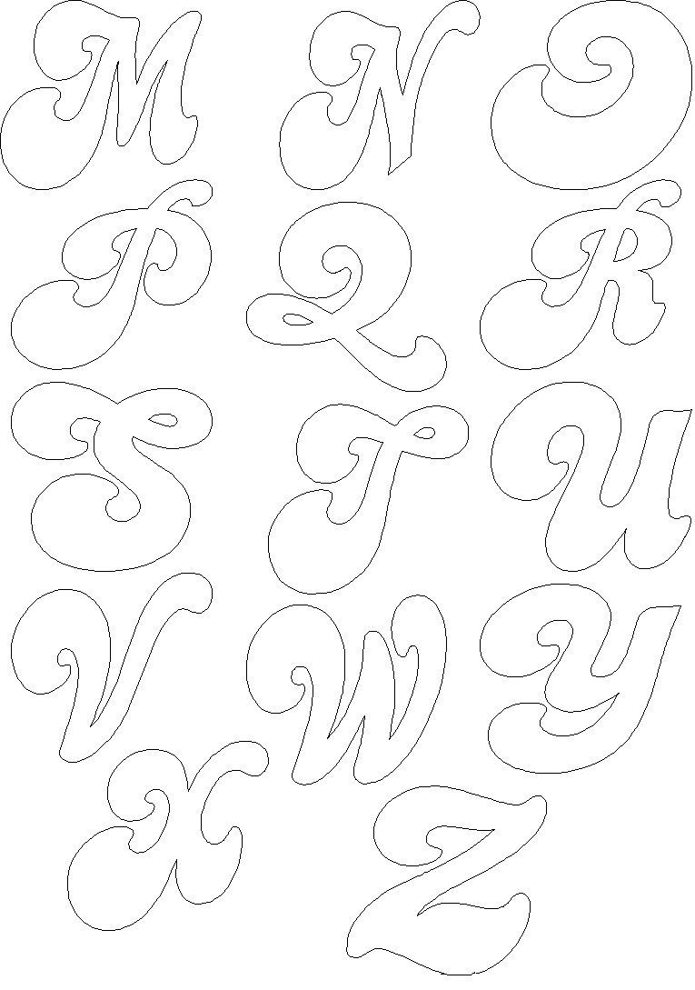 Letras para colorir.