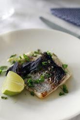 Grillattua kalaa inkivääri-limekastikkeessa