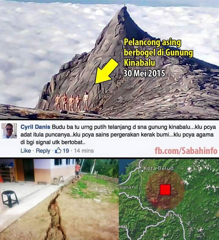 Berita Gempa Bumi di Ranau Gambar Gempa Bumi di Ranau