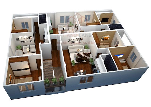 Mặt bằng thiết kế căn hộ chung cư mini Nhật Tảo 4 rất đẹp và thoáng mát
