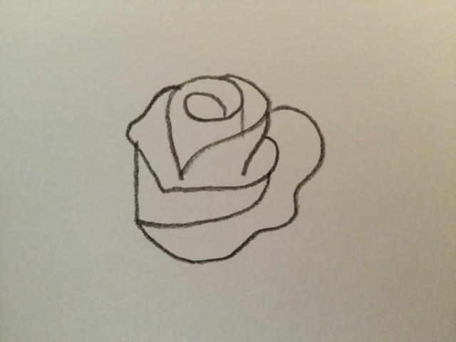 To draw a rose